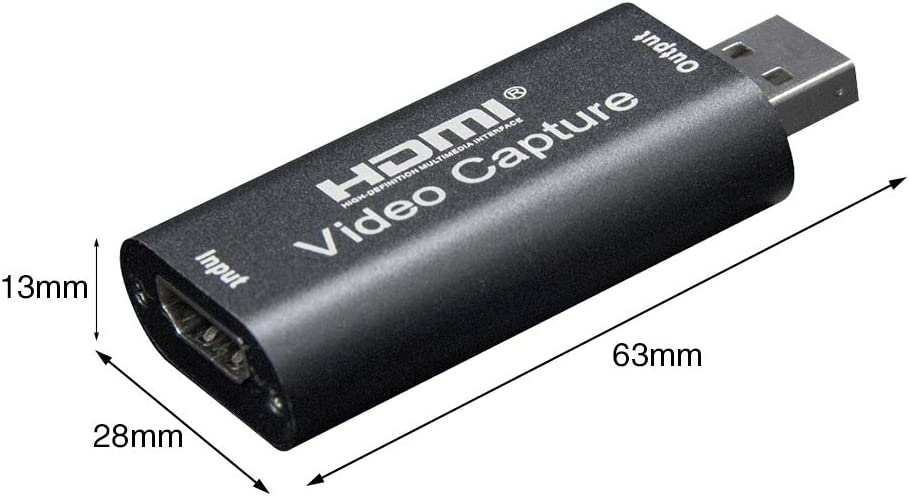 RICH Video Capture Dongle,Video Capture Card for Computer,Live Streaming Adapter Video Capture Card HDMI to USB2.0,for High Definition Acquisition,Teaching Recording