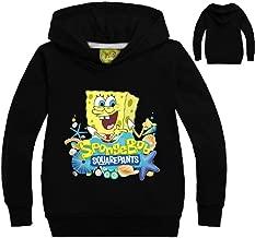 Jurassic World Unisex Boys Girls Spongebob Hooded Sweatshirt Casual Outdoor Outfit