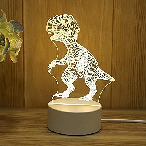 wangzj Dinosaur Night Lights Lámpara pequeña Luces de interior Lámpara nocturna Plug-in Lámpara de noche Lámpara de mesa 3D Regalo Ideal Art and Crafts