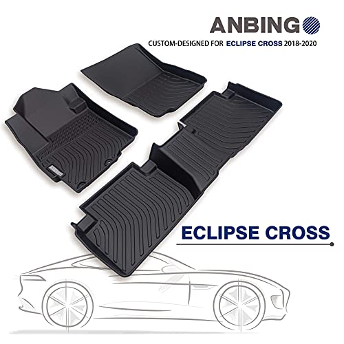 ANBINGO Waterproof Car Matsfor Mitsubishi Eclipse Cross 2018 2019 2020 2021 2022 Non-Slip Easy to Clean Floor Liner Full Set Front & Rear Row