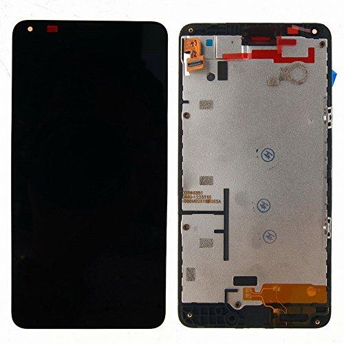 Nokia Microsoft Lumia 640 LCD Display Schermo Vetro Digitizer Touch Screen Assemblato include Frame di Ricambio e Gratis Kit (Nero)