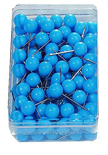 Nobo Moderation - Chinchetas para tableros (100 unidades), azul