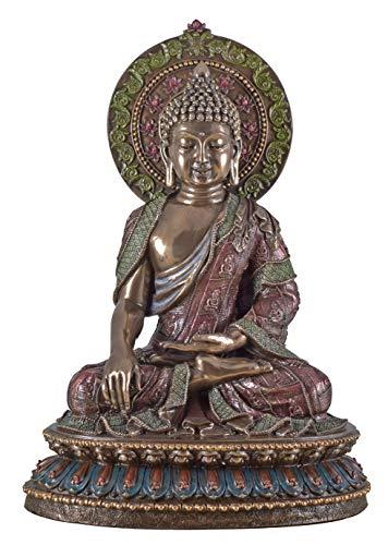 Veronese Figur Indischer Gott Buddha Sakyamuni Siddhartha Gautama Statue Skulptur bronziert