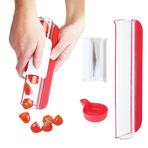 Zip Slicer - Tomatoes Knife - Cherry tomato splitter -by DOTERNITY - Grapes Slicer & Cutter