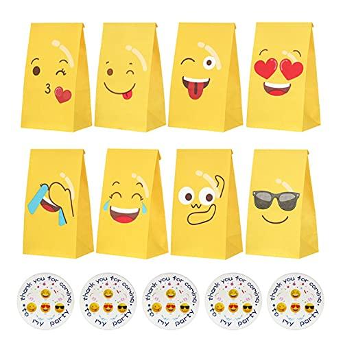 DIOUS Sacchetti di Carta di Espressione Fai da Te, Sacchetti di Zucchero di Carta Kraft ecologici, Una Volta Feste per Pasticceria per Catering a Prova di Petrolio,24 PCS 8 Colors each3 PCS