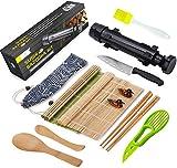 Sushi Making Kit - All In One Sushi Bazooka Maker with Bamboo Mats, Bamboo...