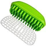 Tank and Sherman Dog Shampoo Rubber Brush – Easy to Clean Dog Bath Brush With Fur Catching Screen – Soft 4 Point bristle Cat and Dog Brush – Enjoy Dog Bathing and Dog grooming once again