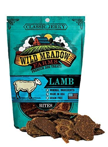 Wild Meadow Farms - Classic Lamb Bites - USA Made Soft Jerky Dog Treats