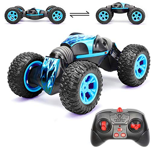 Rc Cars Toy for Boys,1:14 Remote Control Monster Truck 4WD 2.4Ghz Stunt Car Off Road 360° Rotating Rechargeable Racing Buggy Hobby Car Holiday Xmas Gifts for Kids Boys Girls Age 6- 16 Years Old
