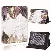 電子書籍の保護カバー Folio Cover Case、Kindle Paper White 1/2/3/4用プリントフェザーレザーリーダースタンドフリオカバーケース 睡眠/覚醒機能 (Color : 6, Size : Paperwhite 1 5th Gen)