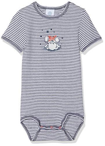 Sanetta Body 1/2 w.Print, Stripe, Beige (Sand Melange 1952), 68 cm Unisex bebé