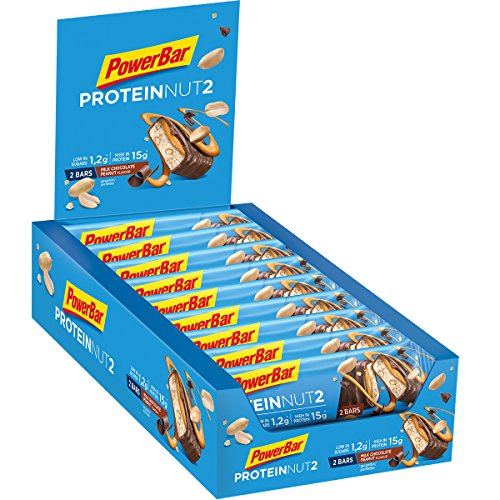 PowerBar Protein Nut2 Milk Chocolate Peanut 18x(2x22,5g) - High Protein Low Sugar Riegel