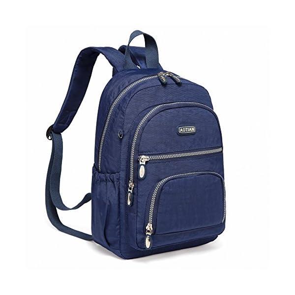 519cb8p5xCL. SS600  - AOTIAN Mujer Peso Ligero Mochilas de Casual Juveniles Bolsas Escolares Bolsa de Uso Diario 9 litros Azul