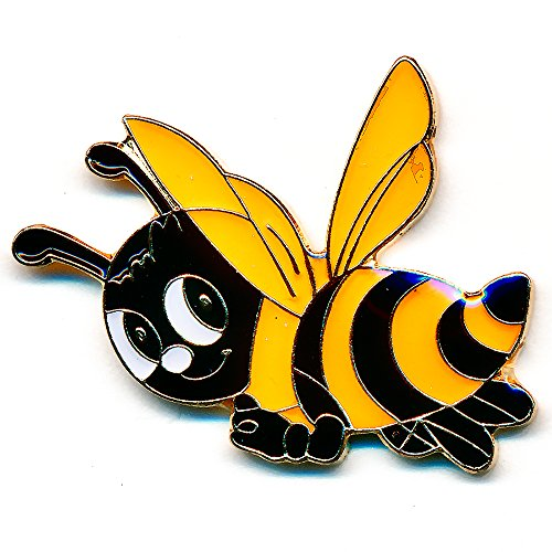 Biene Honigbiene Maja Honey Bee Badge Metall Button Pin Anstecker 0802
