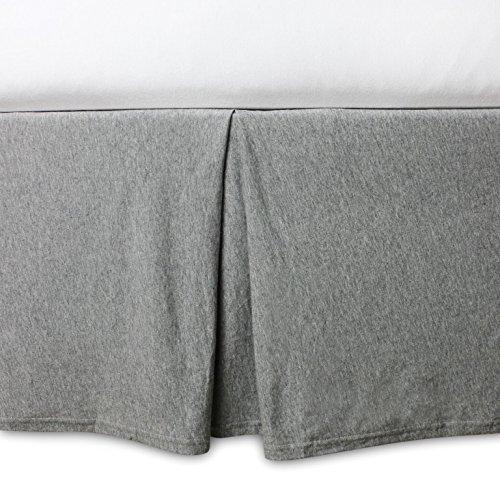 Burt's Bees Baby - Crib Skirt, 100% Organic Crib Skirt for Standard Crib and Toddler Mattresses (Heather Grey)
