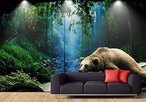 FSKJBZ Tapete für Wände 3 D Fertigen Sie Wald-Tapeten für Wohnzimmer 3D Wandbild-Tapete-Rattan-dekorative Hintergrund-Wand @ 250cmx175cm besonders an