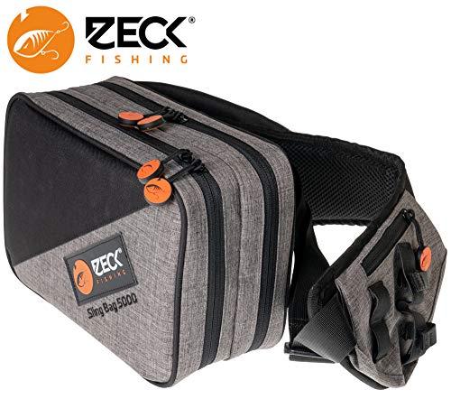 Zeck Sling Bag 5000 + 2 x Tackle Box WP M - Kunstködertasche für Wobbler & Gummifische, Angeltasche für Kunstköder, Tackletasche
