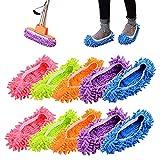 Deer Platz 5 Pares Zapatillas Mopa, Microfiber Dust Mop Shoes, para Baño, Oficina, Cocina, Casa Pulido Limpieza, For Home, 5Colors