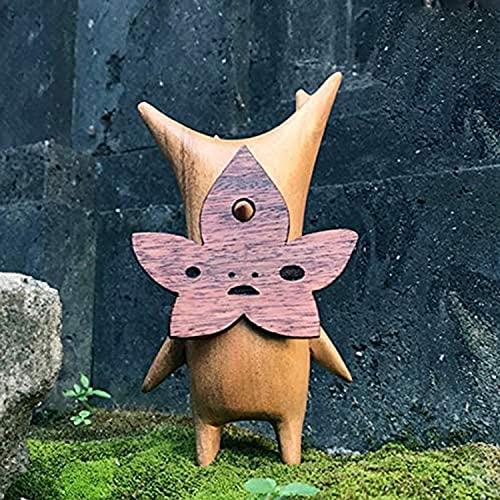 XWBO Wooden Korogu/Korok Statue - Zelda Breath of The Wild,Puppet Toy Handicraft Decoration, Korogu Family Garden Craft Decoration (C)