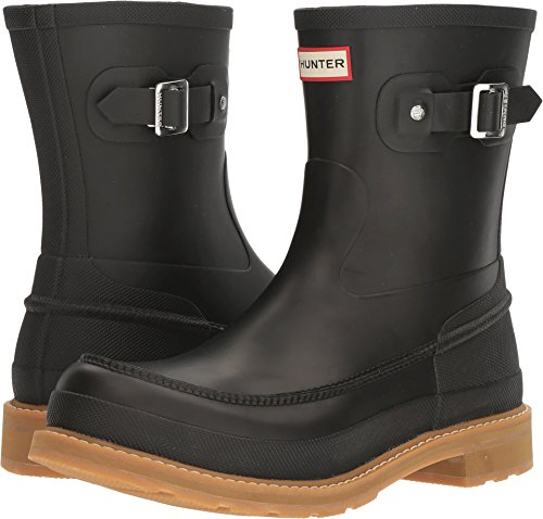 HUNTER Original Moc Toe Short Rain Boots Black 8