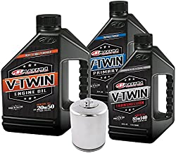 MaximaHiflofiltro VTTOCK06 Complete Engine Oil Change Kit for V-Twin Harley Davidson Twin Cam, 6 Quart