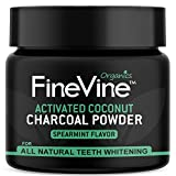 Charcoal Teeth Whitening Powder - Made in USA - Naturally WHITEN Teeth and REMOVES Breath - Best Natural Tooth Whitener Product- (Spearmint) Flavor