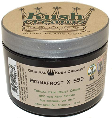 Kush Creams - Permafrost x SSD - Emu Oil & Hemp Oil Infused with 30+ Herbal Ingredients - Topical Pain Relief Cream with Aromatherapy - Award Winning - Doctor Recommended - Lab Tested - 8 oz Jar