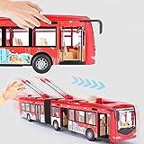 【Regalo di Natale】Boquite Veicoli Giocattolo, Giocattolo educativo per Auto elettrica Leggera per Autobus Urbano per Bambini Modello di Traffico a inerzia per Bambini, I Migliori Regali di Compleanno