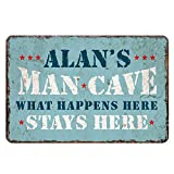 Personalized Man Cave Sign Garage Décor Mancave Signs Decorations Retro Vintage Wall Art Tin Pub Bar BBQ Rustic Home Beer Shed Dads Fathers Plaque Gift Finish