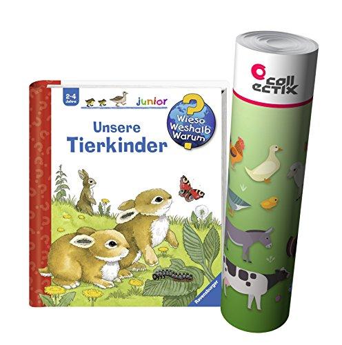 Ravensburger Junior kinderboek band 15 | Onze dierkinderen + boerderij dieren poster by Collectix