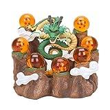 QYF Dragon Ball Z: Decoración del Regalo de la montaña Bola de Cristal Shenron Cuerpo Invocar Escena del dragón Modelo Base en Caja decoración de Alta 15CM (5.9Inches) -Boy cumpleaños del Coche