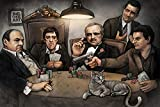 Gangsters Playing Poker Poster, Size 24x36