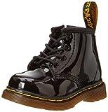 Dr. Martens 1460 I, Unisex-Kinder Klassische Stiefel, Schwarz (Black Patent Lamper 002), 20 EU