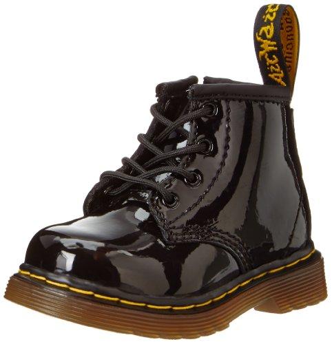 DADAWEN Boy's Girl's Waterproof Side Zipper Lace-Up Ankle Boots (Toddler/Little Kid/Big Kid) Black US Size 7 M Toddler