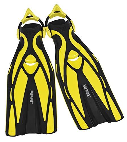 Seac F1 S ultraleichte Taucherflosse mit Sling Straps, gelb, S/M