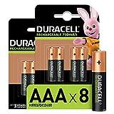 Duracell Rechargeable AAA - Batterie Ministilo Ricaricabili 750 mAh, Confezione da 8 Amazon Exclusive