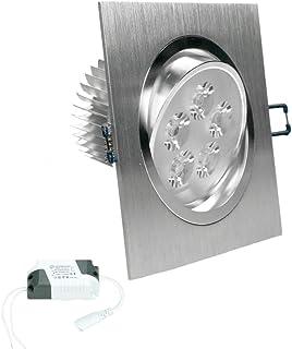 ECD Germany 2 x Panneau LED Ultramince 5W - Carré - 220-240 V - 9,2 x 9,2 cm- 334 Lumens - Plafonnier LED Blanc Chaud - 30...