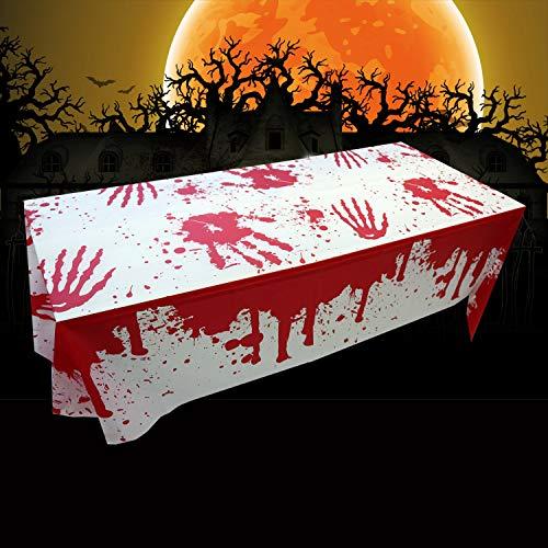 Tovaglia Di Halloween, Tovaglie di sangue di Halloween, tovaglia insanguinata da brividi, decorazione del partito di Halloween Tovaglia di sangue (2 packs)