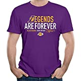 Camiseta de manga corta para hombre Los Angeles Lakers Kobe Bryant Legend Forever PC. S