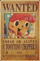 海賊アニメChopperチョッパー さびた錫のサインヴィンテージアルミニウムプラークアートポスター装飾面白い鉄の絵の個性安全標識警告バースクールカフェガレージの寝室に適しています