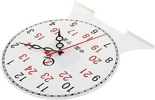 CUTICATE Kids Children's Teaching Time Clock Learn To Tell The Time Classoom Supplies - 24 Hour Clock