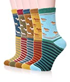 Color City Womens 5 Pairs Thick Soft Cute Cotton Socks - Winter Warm...