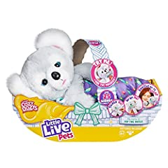 Kip the Koala has super soft cuddly plush! Kip reacts to your touch! He adores tummy tickles or head patting! Place Kip's pacifier in his mouth and watch Kip fall asleep! Kip has over 25 different sounds and reactions! Wrap Kip up in his blanket & so...