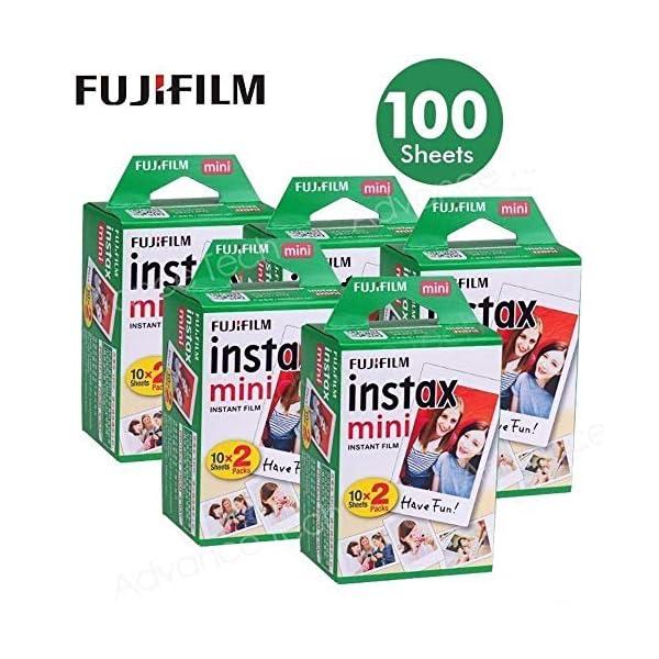 Fujifilm Instax Mini 100 Film for Fuji 7S 8 25 50S 90 300 Instant Camera, Share SP-1...