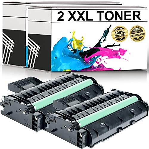 LABT Toner kompatibel zu Ricoh Aficio SP 201 N/SP 204 SN, SFN/SP 211 SU, SP 211 SF/SP 203 S/SP 213 w, SFNw, SFw, SUw/SP 220 Nw, SNW, SFNw | 2er Set | schwarz | 407254