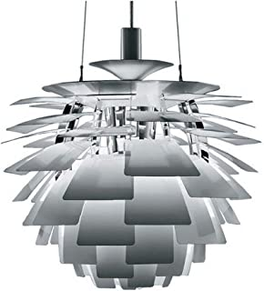 LLAN Gran lámpara colgante, lámpara de cono de pino moderno y blanco en forma esférica de espirales Pétalo: la alcachofa y el estilo de diseñador para colgante y lámpara colgante