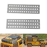XUNJIAJIE Metal Sand Ladders Board for 1/10 Scale RC Crawler Car Accessories Axial SCX10 D90 D110 TRX4 (1 Pair)