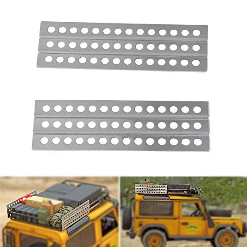 XUNJIAJIE Metal Sand Ladders Board for 1/10 Scale RC Crawler Car Accessories Axial SCX10 II D90 D110 TRX4 (1 Pair)