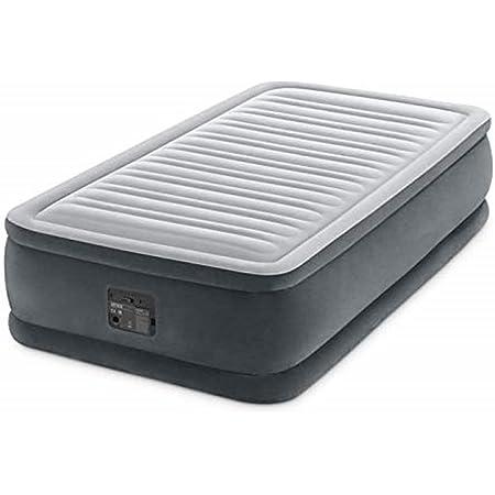 Intex Lit Gonflable Comfort Plush 1 Place Elec Fiber Tech, Gris