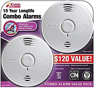 Kidde Worry-Free 10 Year Battery Combination Smoke and CO Alarm with Voice (2
